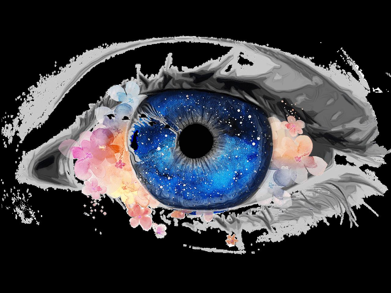eye, creative, galaxy